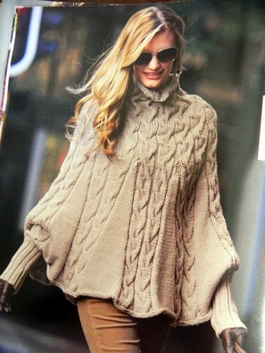 Modele tricot poncho femme bergere de france - altoservices