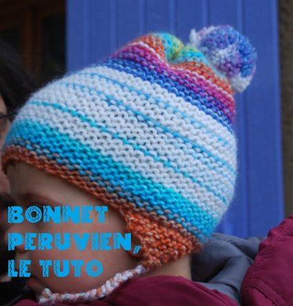 Tuto tricot bonnet peruvien bébé - altoservices 652592b856a