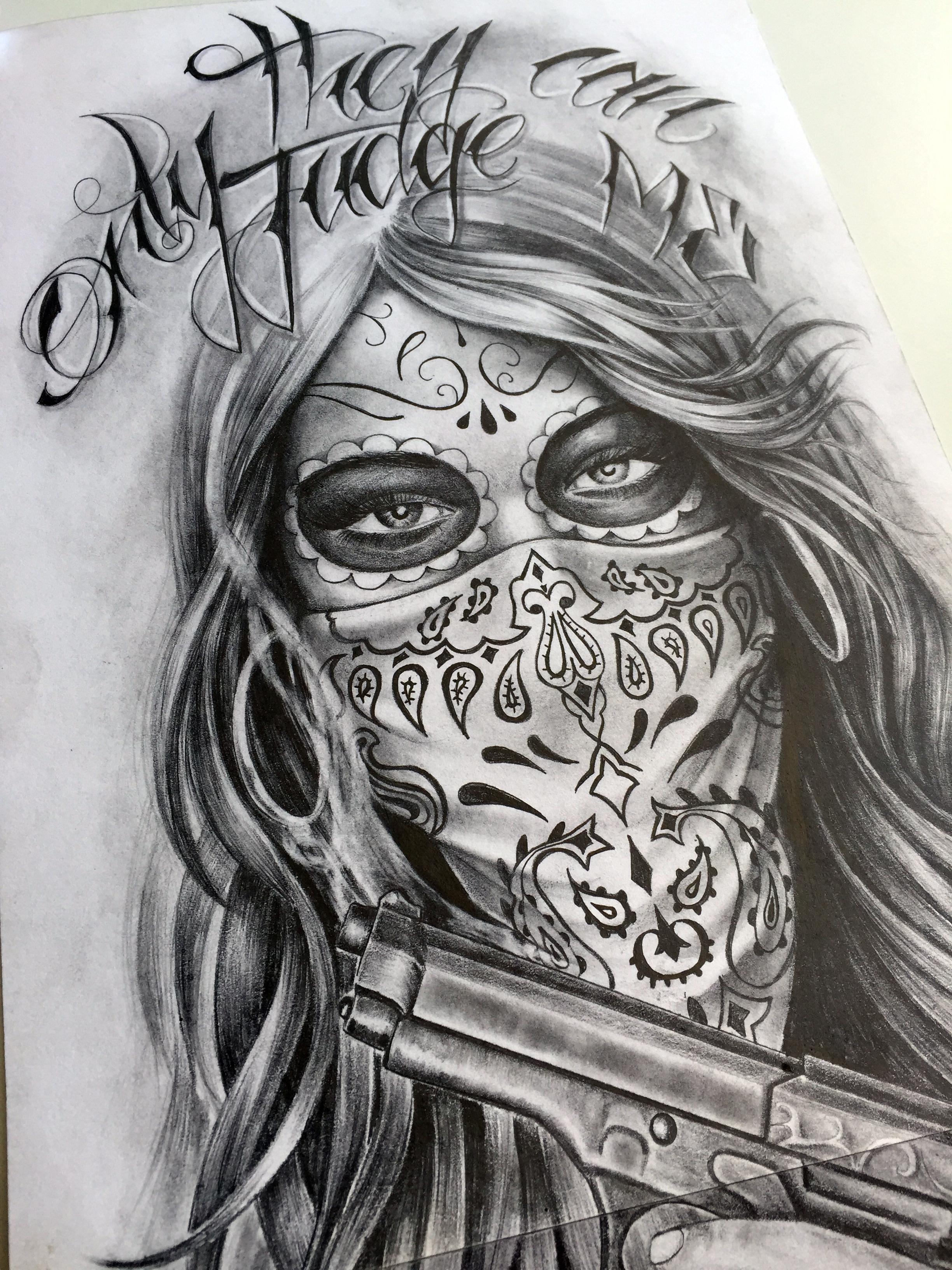 Tatouage mexicain catrina