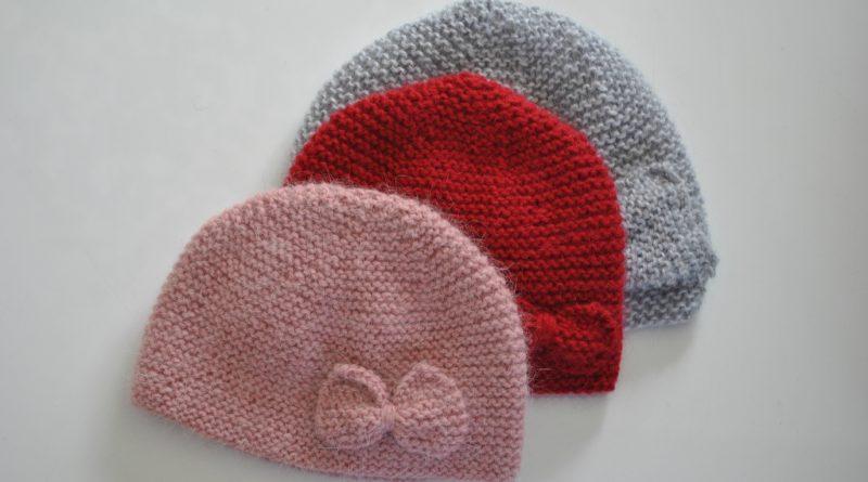 Tuto bonnet naissance tricot - altoservices 95b5225fc4e