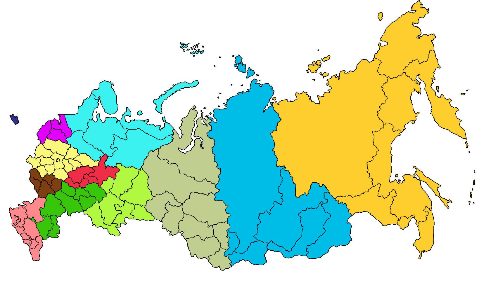 Carte du monde vierge en couleur