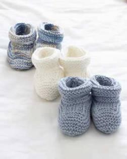 Tuto tricot chaussons bébé - altoservices b8252f12384