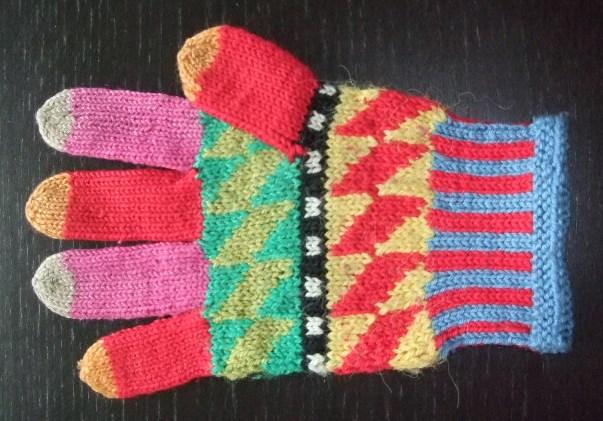 Tricoter gants avec 2 aiguilles - altoservices