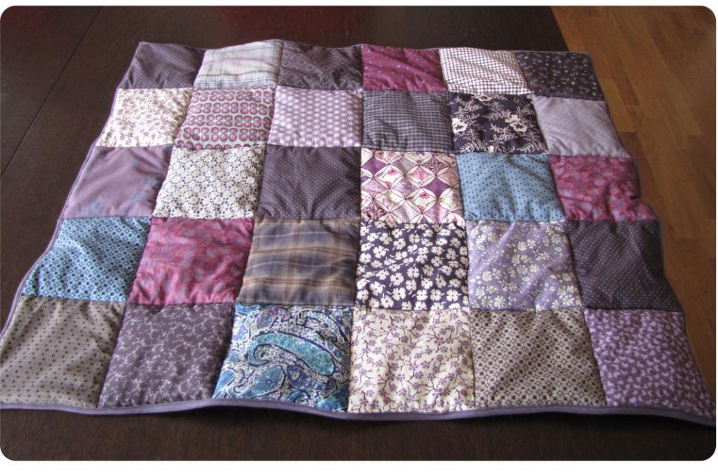 Modele plaid tricot patchwork - altoservices