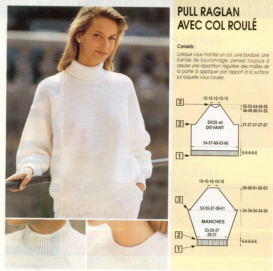 gratuit pull tricot roulé Modèle col femme d1TpBq