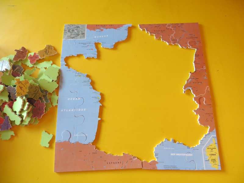 Carte avec tous les departements de france