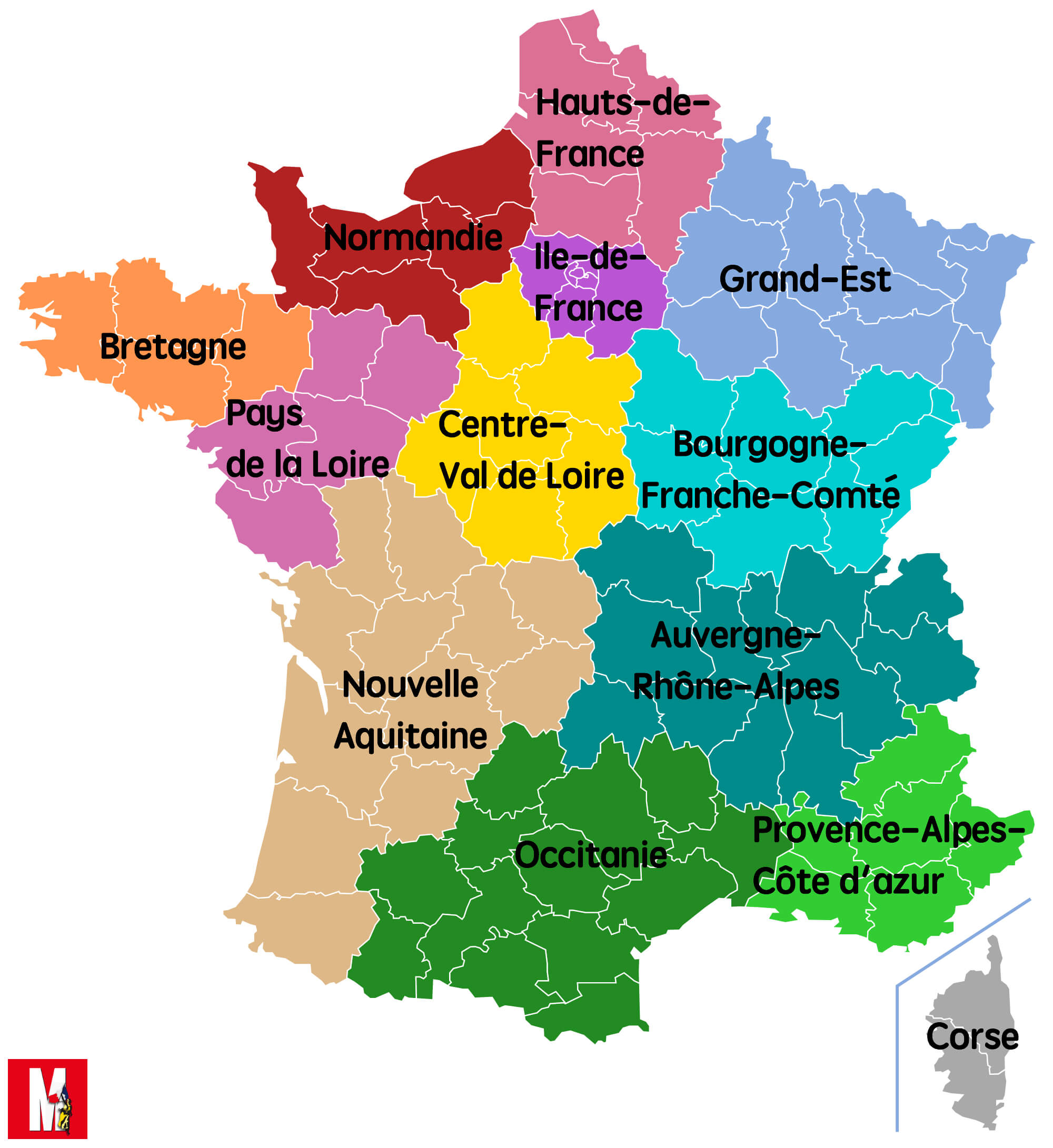 Les nouvelles grandes régions