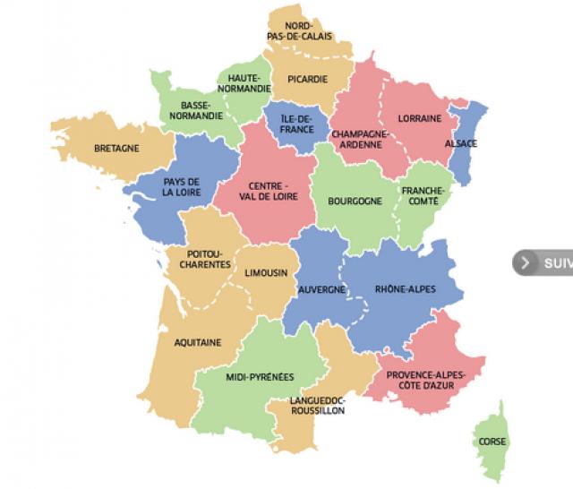 Combien de region en france