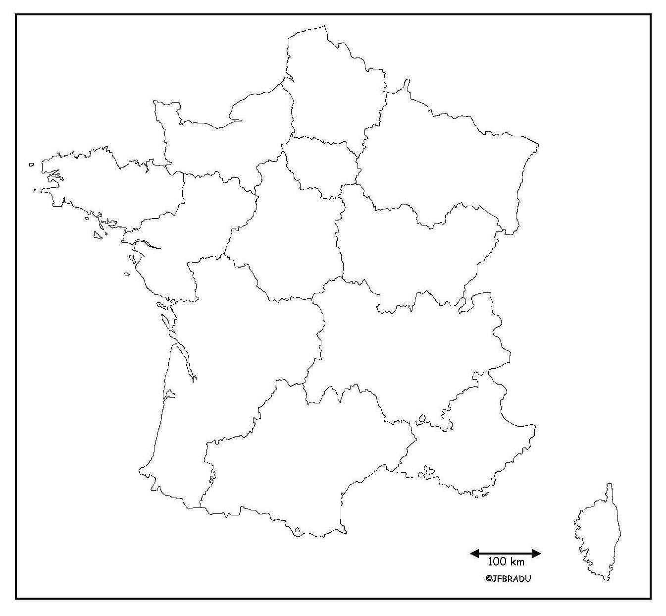Fond de carte département france
