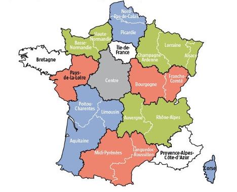 Régions en france 2016