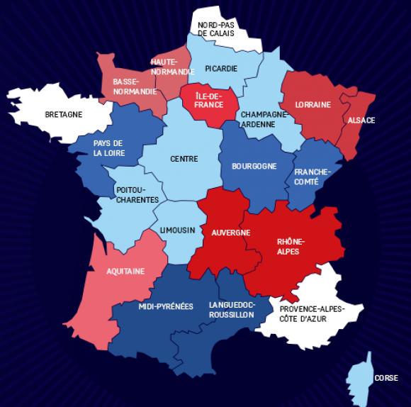 Plan des nouvelles regions