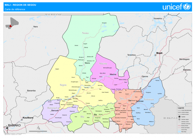 La carte region