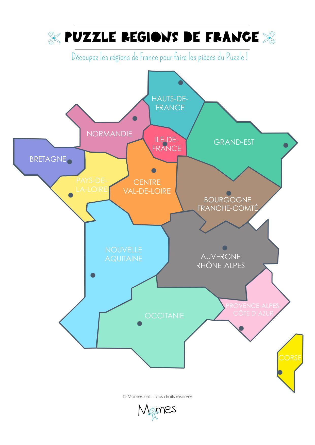 Régions de france carte