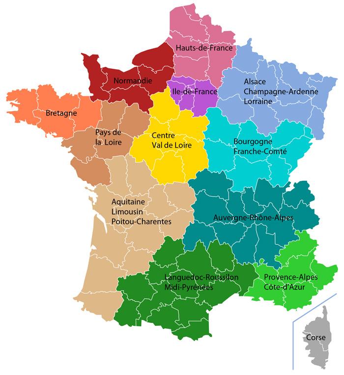 Nouvelles régions carte