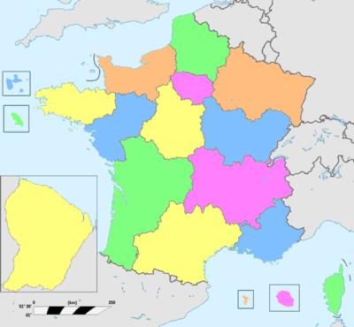 Anciennes régions de france