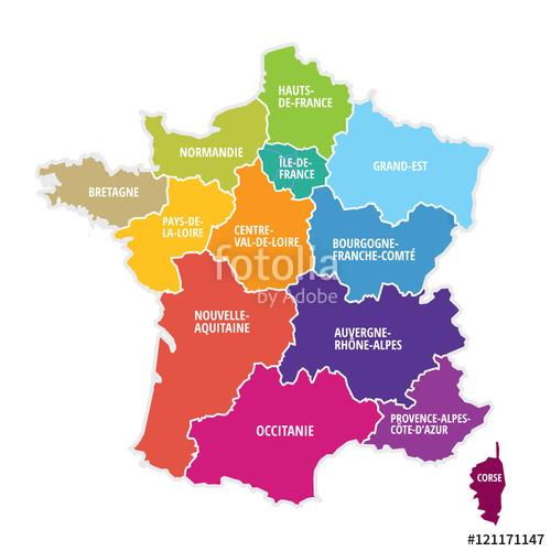 Region carte