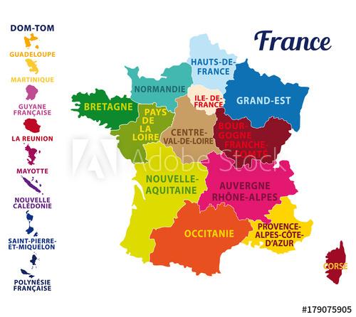 Carte nouvelle region