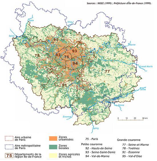 Carte geographique de la france et ses departements