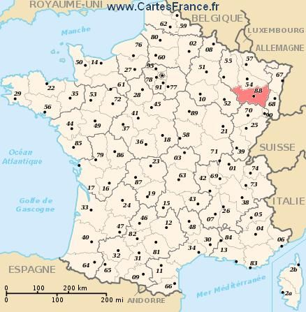 Carte france des régions