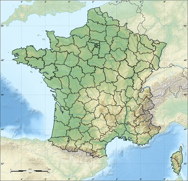 La france departement carte