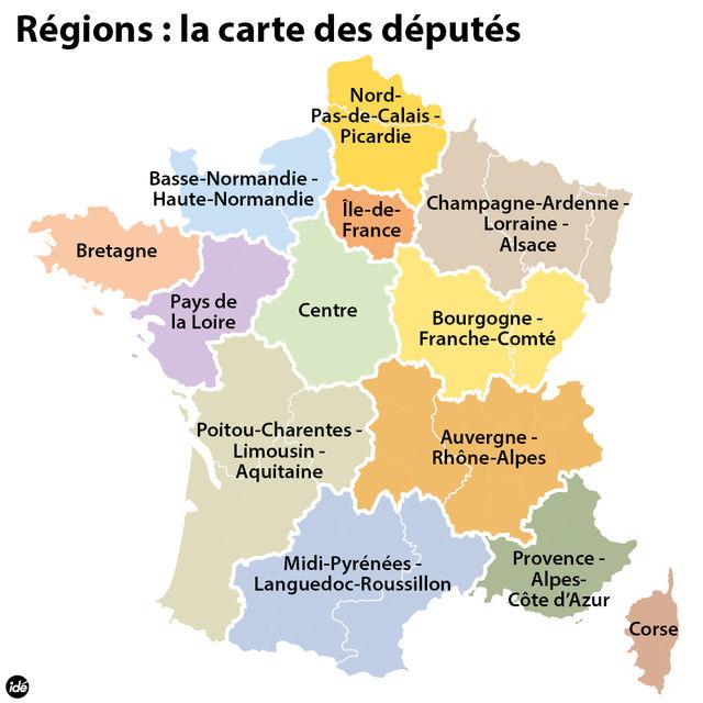 13 nouvelles régions de france