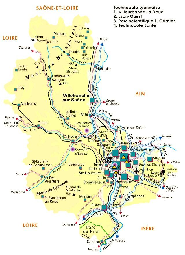 Carte de départements français