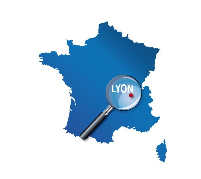 Lyon carte de france