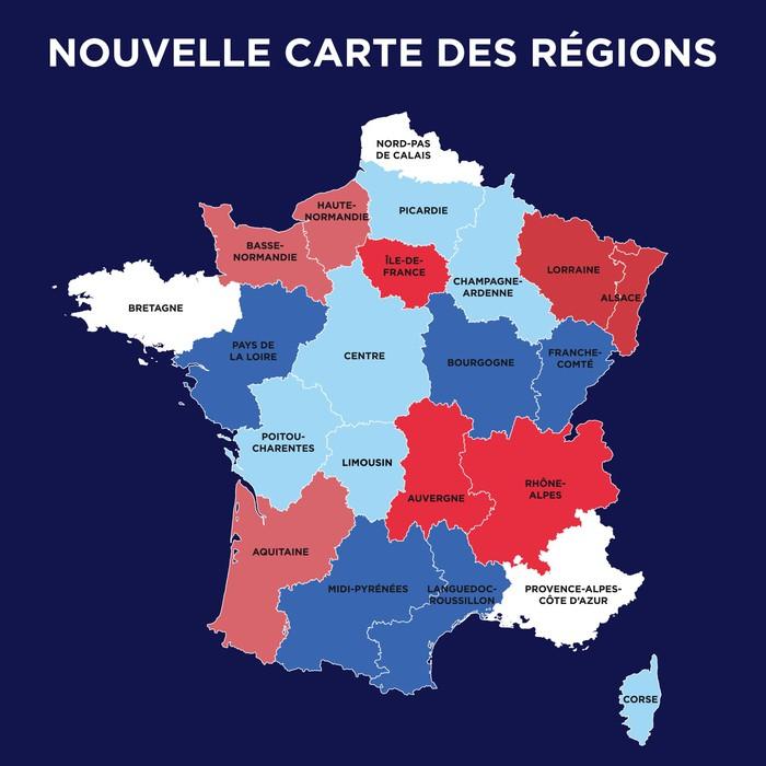 Nouvelle carte region de france