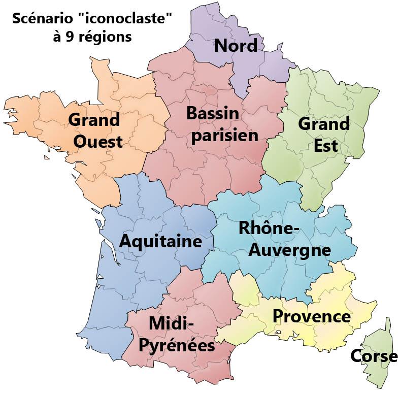 Les grandes régions françaises