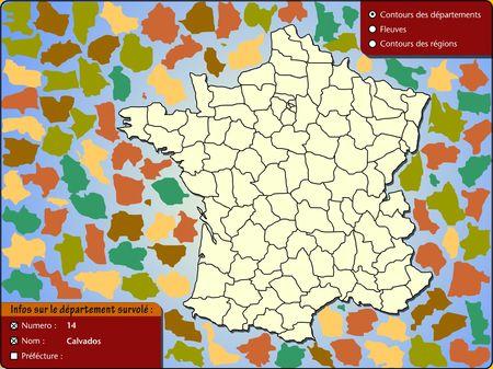 Puzzle departements francais