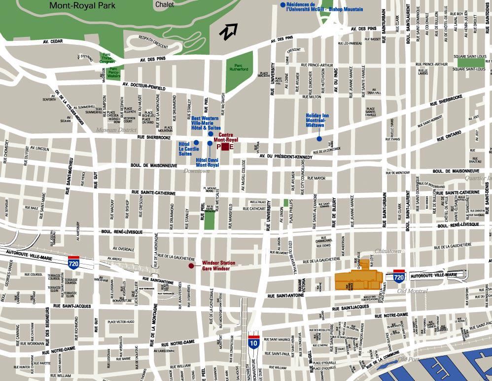 Un plan de ville