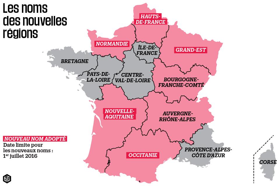 Carte régions françaises