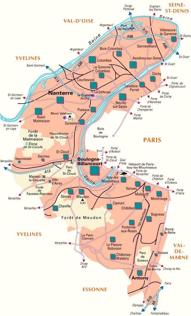 Plan des departement