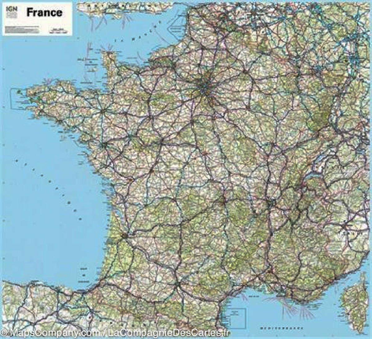 Carte routiere france