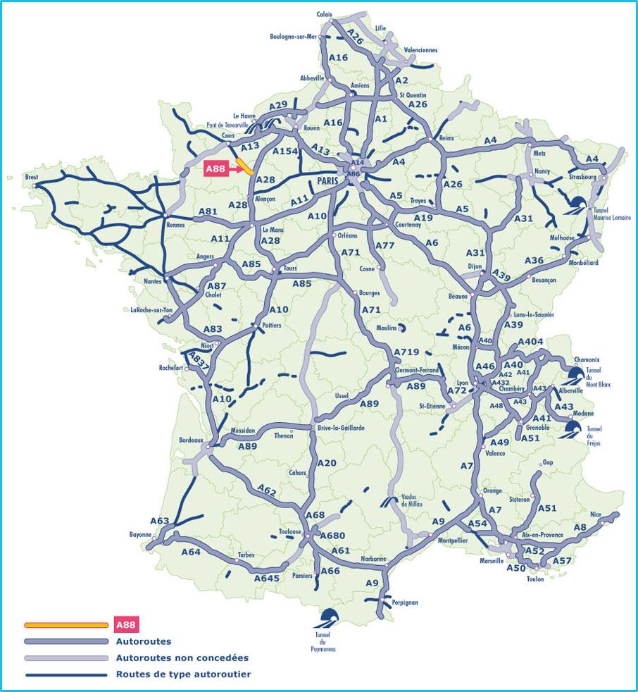 Carte de france reseau routier