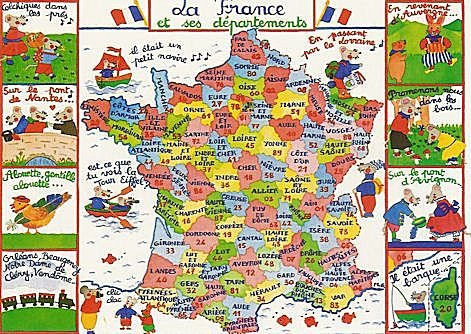 La carte de france et ses départements