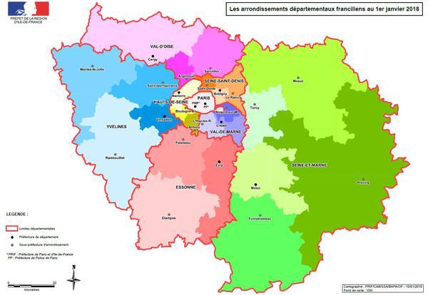 Carte departement paris - altoservices