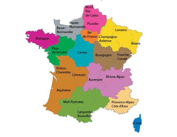 La france 13 regions