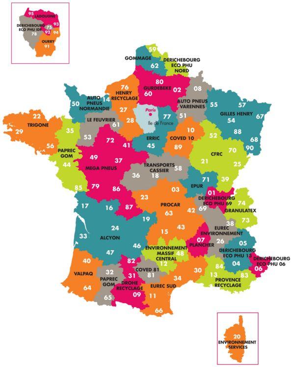 Carte du departement 69 - altoservices
