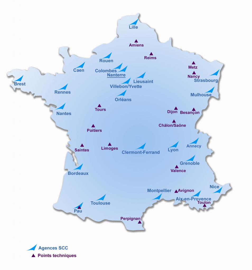 Dijon sur carte de france - altoservices