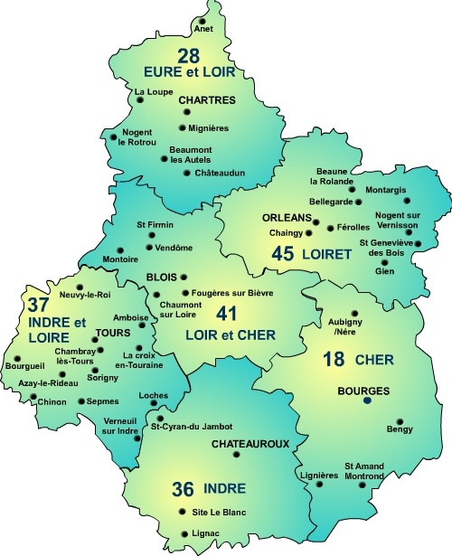 Region france carte