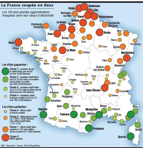 Les villes françaises