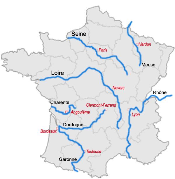 Carte de france riviere