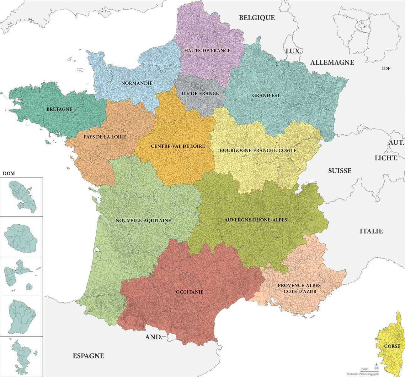 Carte des communes de france