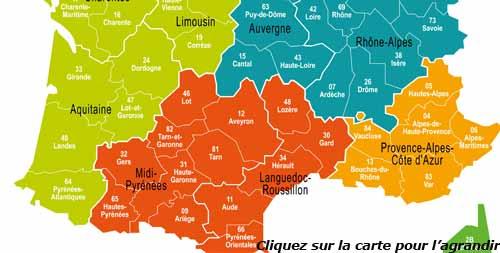 Nouvelle carte france region