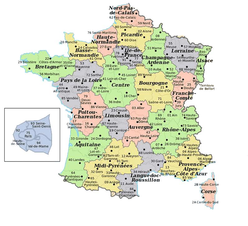 Departements francais