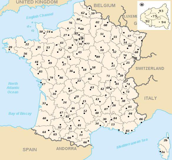 France les départements