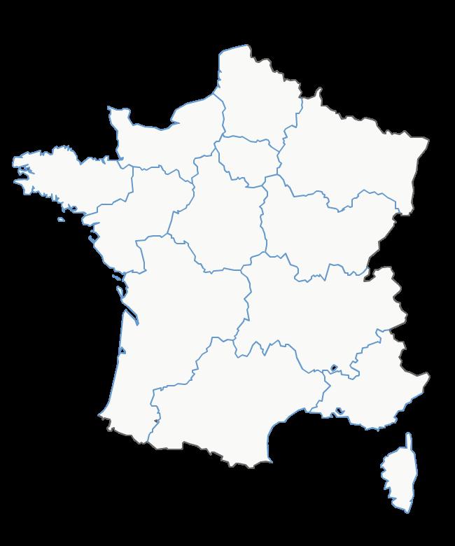 Carte de france avec régions à imprimer