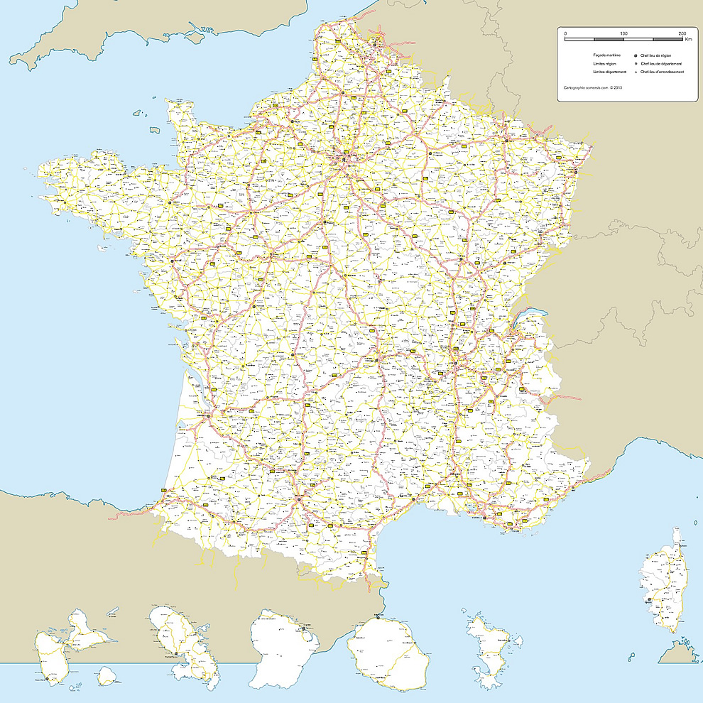 Carte de france a telecharger