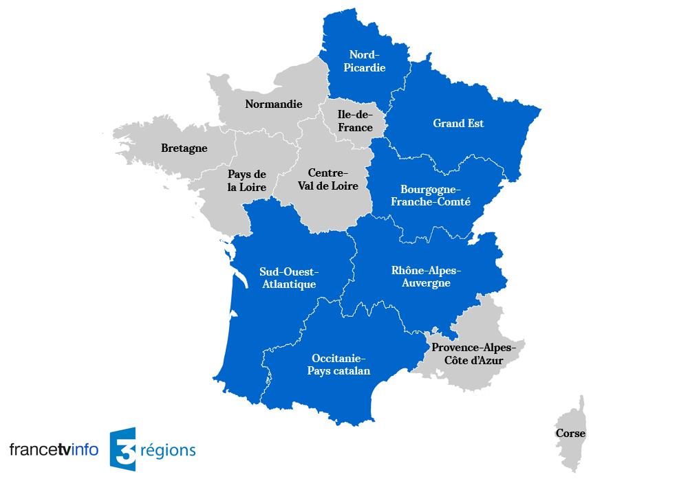 Nouveaux noms régions france